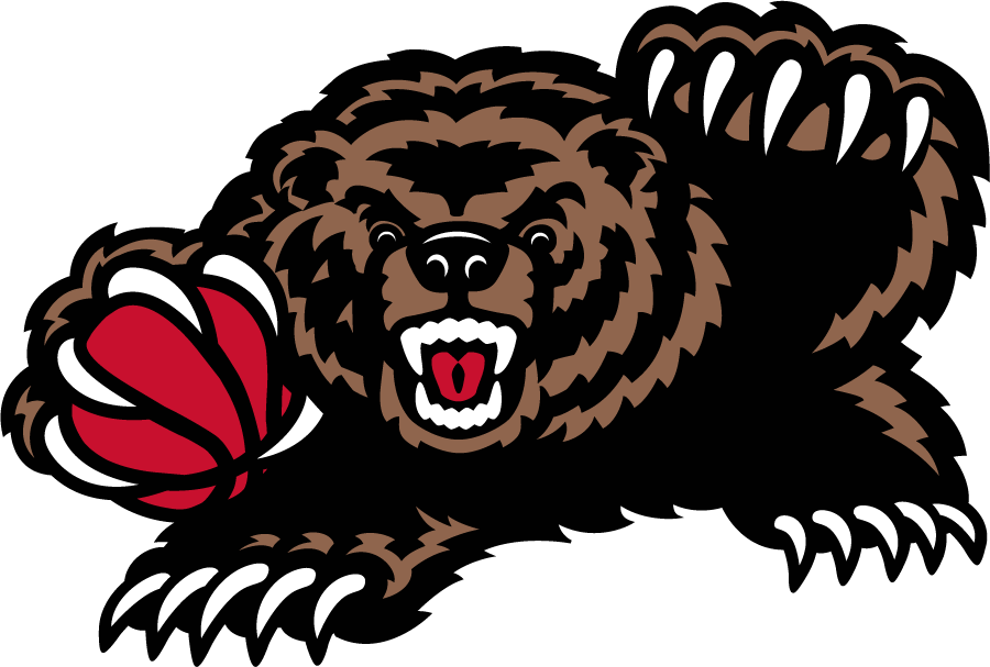 Memphis Grizzlies Logo Alternate Logo (2001/02-2003/04) - A bear holding a basketball SportsLogos.Net