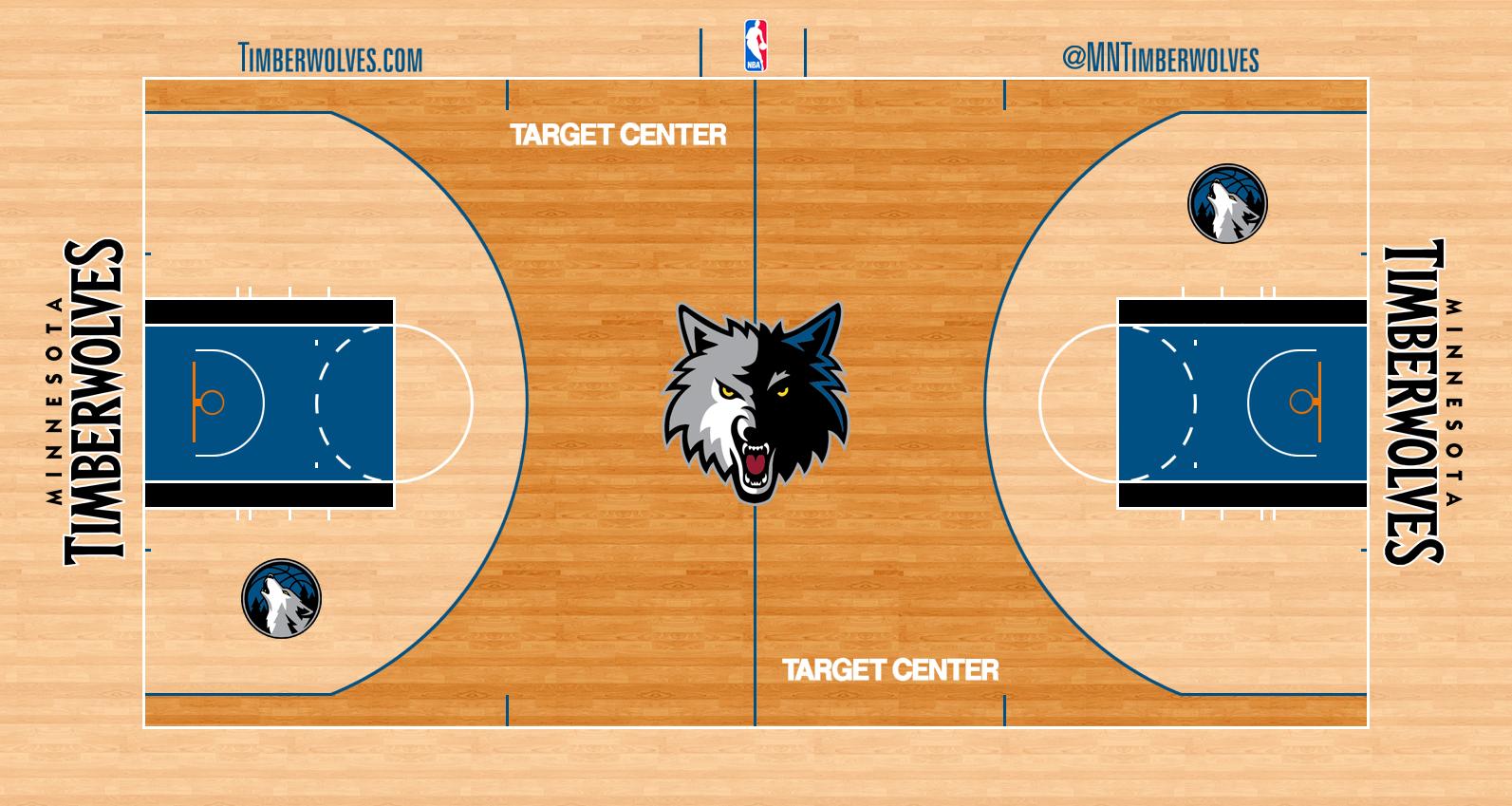 Minnesota Timberwolves Logo Stadium Logo (2012/13-2016/17) - Minnesota Timberwolves home court - Target Center SportsLogos.Net
