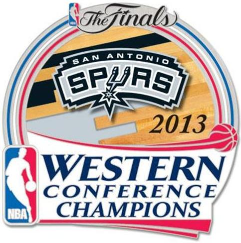 San Antonio Spurs Logo Champion Logo (2012/13) - San Antonio Spurs 2013 Western Conference Champions logo  SportsLogos.Net