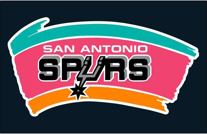 San Antonio Spurs Logo Primary Dark Logo (1989/90-2001/02) - Spurs primary on black SportsLogos.Net