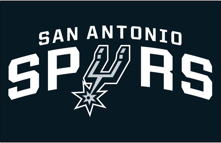 San Antonio Spurs Logo Primary Dark Logo (2017/18-Pres) - Spurs primary on black SportsLogos.Net