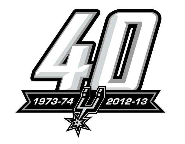 San Antonio Spurs Logo Anniversary Logo (2012/13) - San Antonio Spurs 40th Anniversary Logo SportsLogos.Net