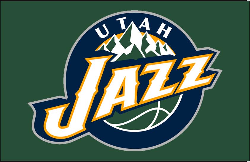 Utah Jazz Logo Primary Dark Logo (2010/11-2015/16) - Primary on Dark Green SportsLogos.Net