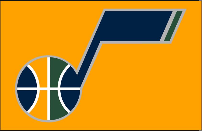 Utah Jazz Logo Alt on Dark Logo (2010/11-2015/16) - Secondary Logo on Dark Yellow SportsLogos.Net