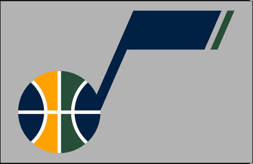 Utah Jazz Logo Alt on Dark Logo (2010/11-2015/16) - Secondary Logo on Grey SportsLogos.Net