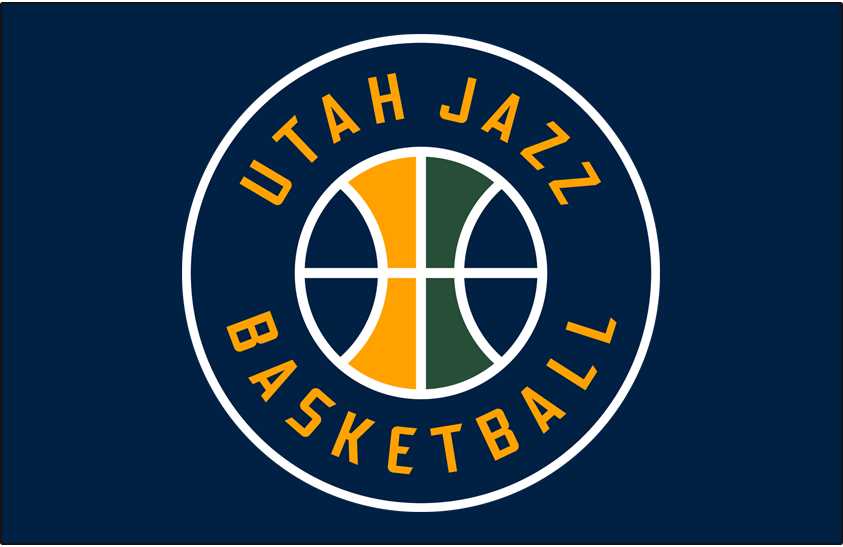 ce7835f17 Utah Jazz Alternate on Dark Logo - National Basketball Association ...