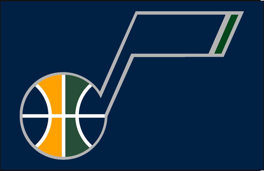 Utah Jazz Logo Alt on Dark Logo (2010/11-2015/16) - Secondary Logo on Navy SportsLogos.Net