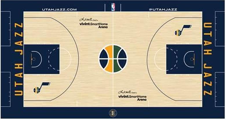 Utah Jazz Playing Surface Playing Surface (2016/17-Pres) -  SportsLogos.Net