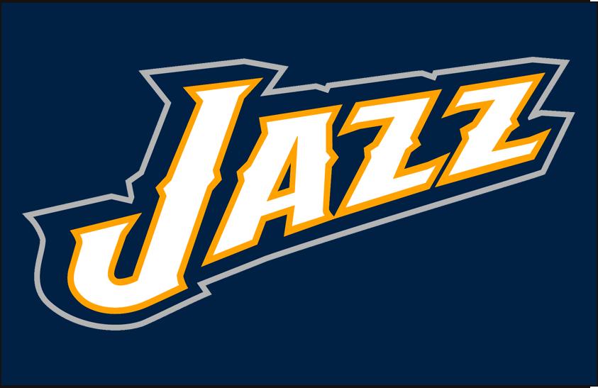 Utah Jazz Logo Alt on Dark Logo (2010/11-2015/16) - Partial Logo on Navy SportsLogos.Net