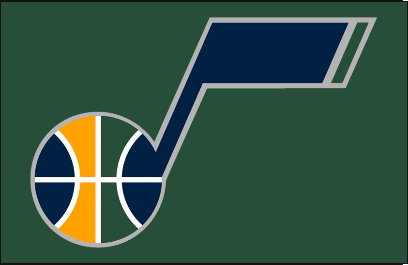 Utah Jazz Logo Alt on Dark Logo (2010/11-2015/16) - Secondary Logo on Dark Green SportsLogos.Net