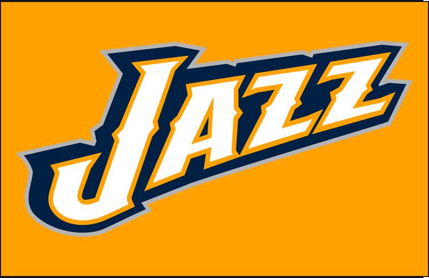 Utah Jazz Logo Alt on Dark Logo (2010/11-2015/16) - Partial Logo on Dark Yellow SportsLogos.Net