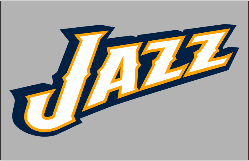 Utah Jazz Logo Alt on Dark Logo (2010/11-2015/16) - Partial Logo on Grey SportsLogos.Net