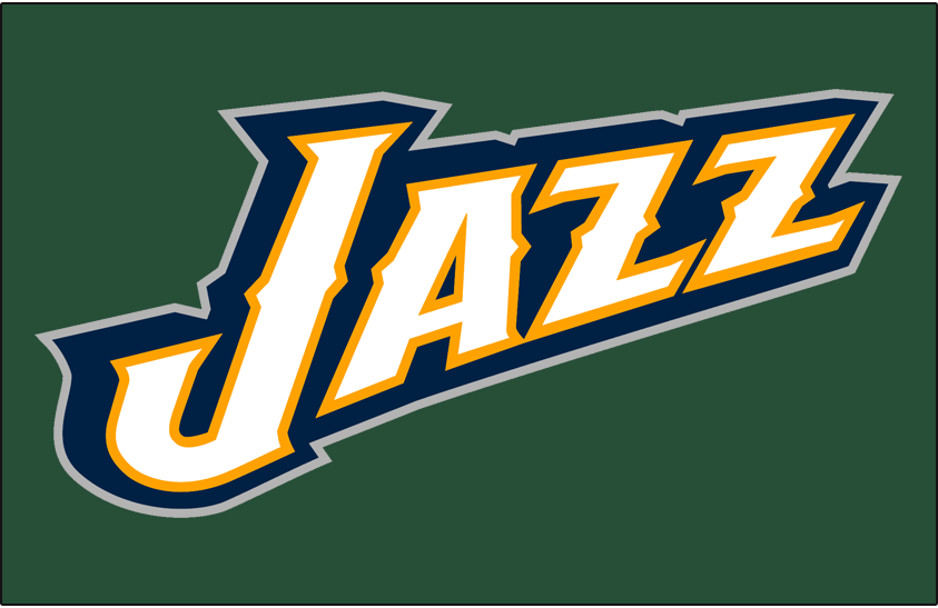 Utah Jazz Logo Alt on Dark Logo (2010/11-2015/16) - Partial Logo on Dark Green SportsLogos.Net