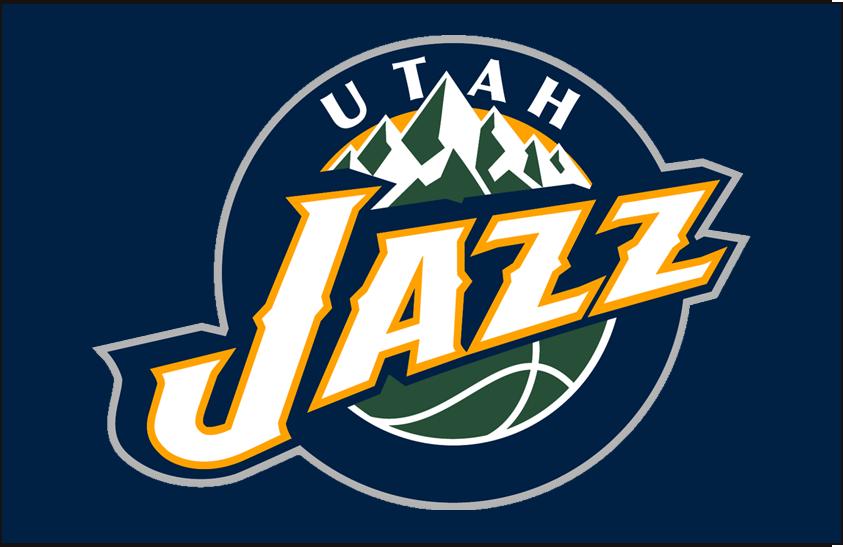 Utah Jazz Logo Primary Dark Logo (2010/11-2015/16) - Primary on Navy SportsLogos.Net