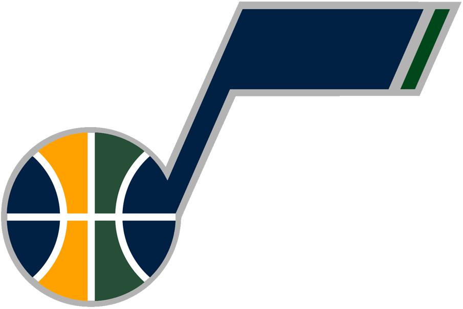 Utah Jazz Logo Alternate Logo (2010/11-2015/16) - Recolored J-Note Logo SportsLogos.Net