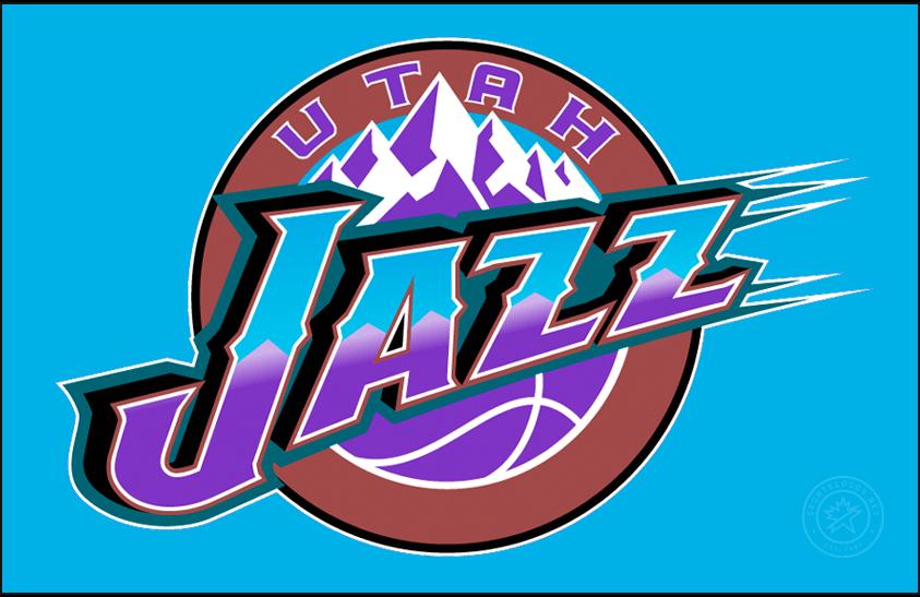 Utah Jazz Logo Primary Dark Logo (1996/97-2003/04) -  SportsLogos.Net