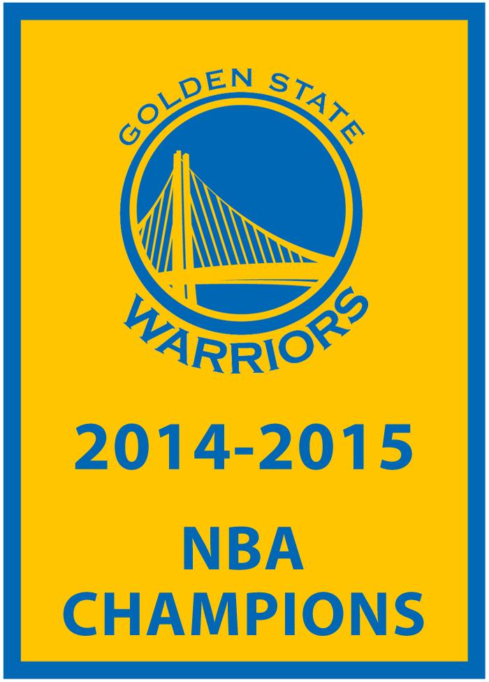 Golden State Warriors Championship Banner Championship Banner (2014/15) - Golden St Warriors 2014-2015 NBA Champions Banner SportsLogos.Net