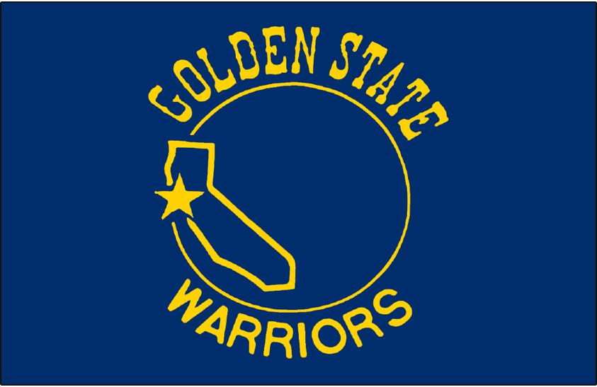 Golden State Warriors Logo Primary Dark Logo (1971/72-1974/75) - Golden State Warriors Logo on Blue SportsLogos.Net