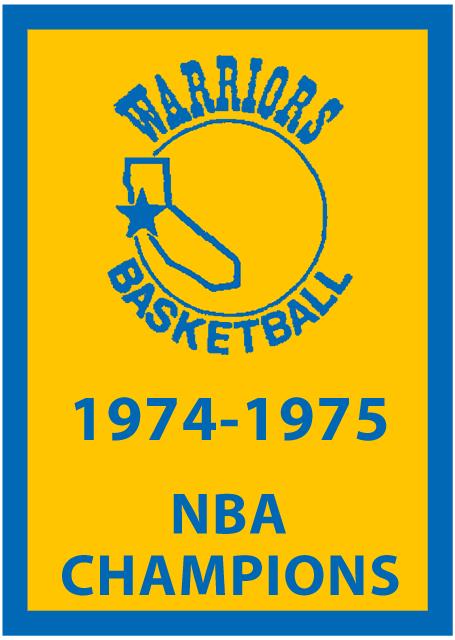 Golden State Warriors Championship Banner Championship Banner (1974/75) - Golden St Warriors 1974-1975 NBA Champions Banner SportsLogos.Net