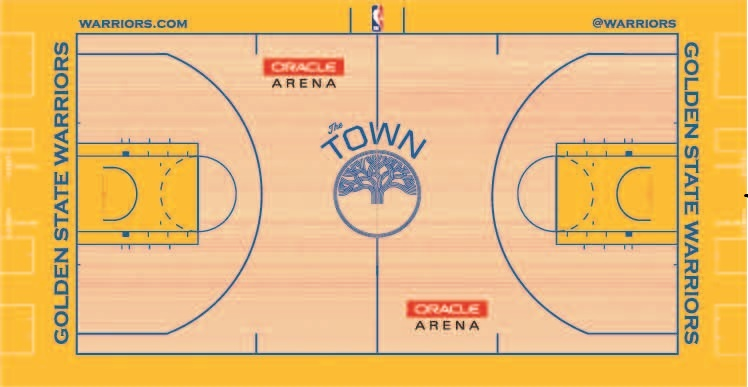 Golden State Warriors Playing Surface Playing Surface (2017/18-2018/19) - Golden State Warriors alternate City Edition The Town Court at Oracle Arena  SportsLogos.Net