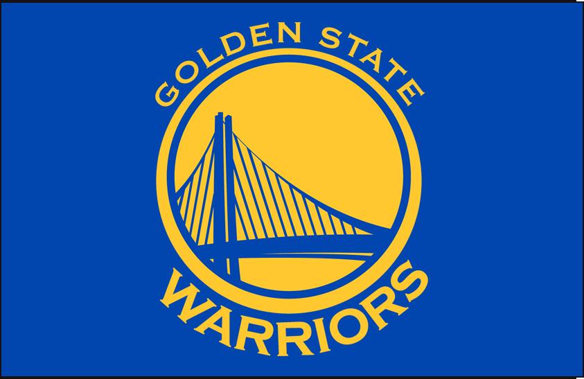 Golden State Warriors Logo Primary Dark Logo (2010/11-2018/19) - Primary on Royal Blue SportsLogos.Net
