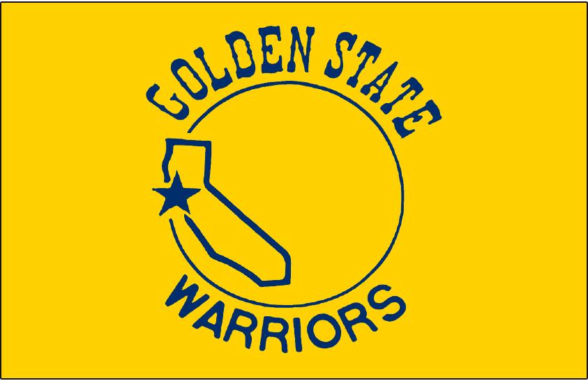 Golden State Warriors Logo Primary Dark Logo (1971/72-1974/75) - Golden State Warriors Logo on Yellow SportsLogos.Net