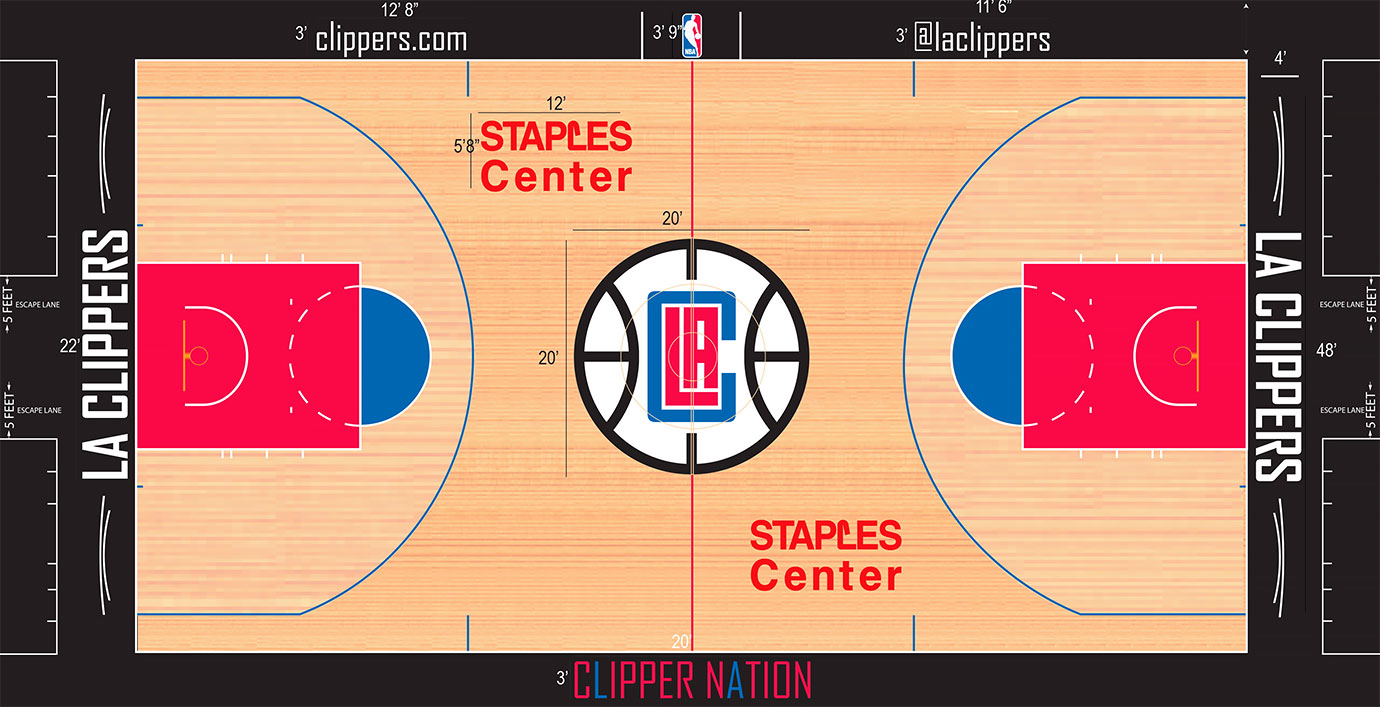 Los Angeles Clippers Playing Surface Playing Surface (2015/16-Pres) -  SportsLogos.Net