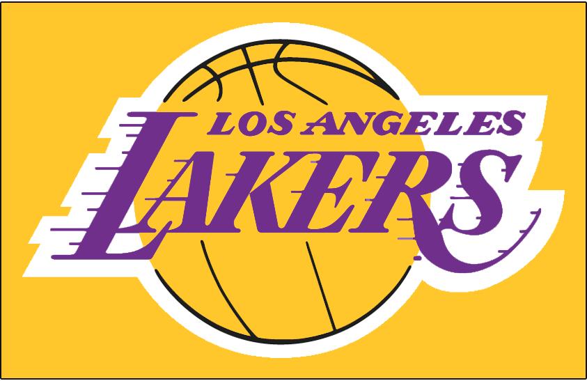 Los Angeles Lakers Logo Primary Dark Logo (1999/00-2000/01) - Los Angeles Lakers logo on gold SportsLogos.Net