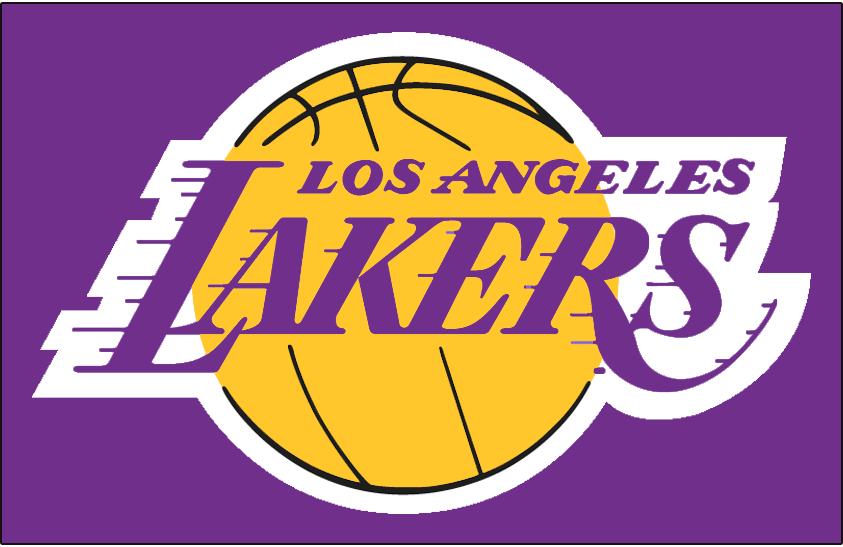 Los Angeles Lakers Logo Primary Dark Logo (1999/00-2000/01) - Los Angeles Lakers logo on purple SportsLogos.Net