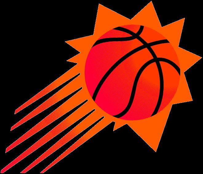 Phoenix Suns Logo Alternate Logo (1992/93-1999/00) - A streaking orange sun with basketball markings on it SportsLogos.Net