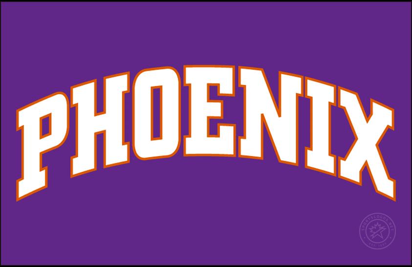 Phoenix Suns Logo Jersey Logo (2000/01-2012/13) - Phoenix in white on purple, worn on Phoenix Suns road jersey SportsLogos.Net