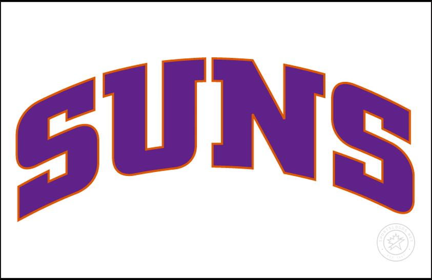 Phoenix Suns Logo Jersey Logo (2000/01-2012/13) - Suns arched in purple, worn on Phoenix Suns home jersey SportsLogos.Net