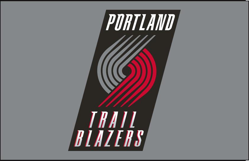 Portland Trail Blazers Logo Primary Dark Logo (2004/05-2016/17) - Primary on Silver SportsLogos.Net