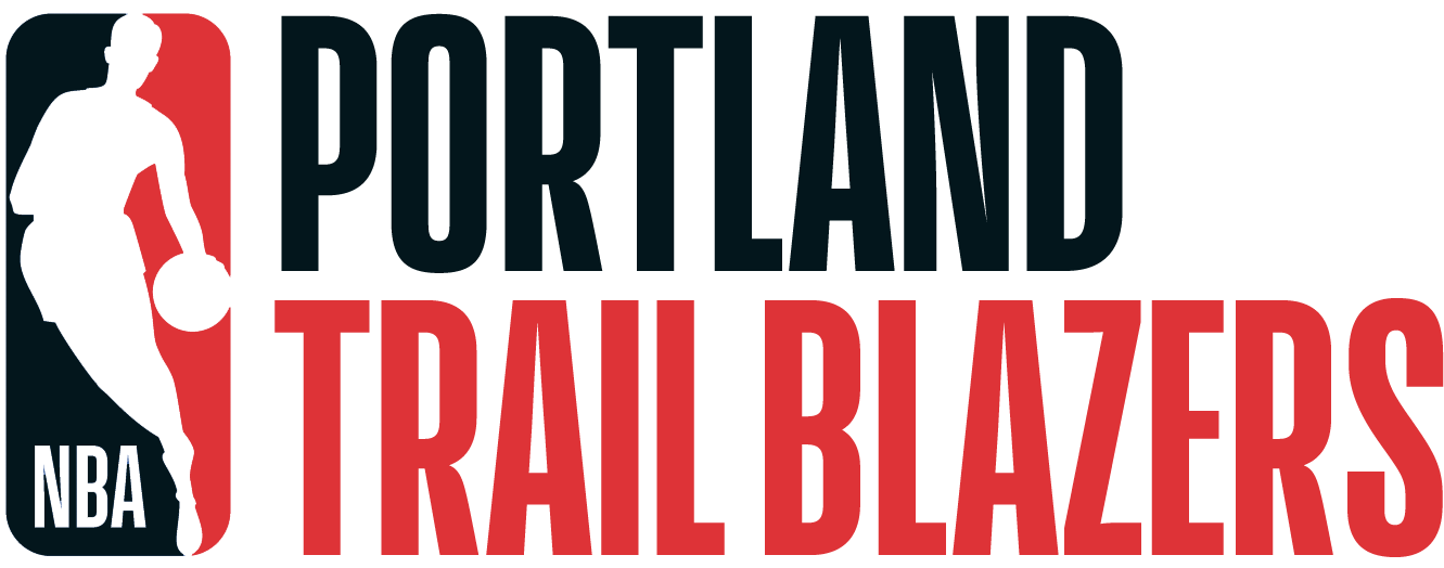 Portland Trail Blazers Logo Misc Logo (2017/18) - Note: This is not a legitimate team logo, it was originally created by this site for an April Fool's Day joke using the NBA's standardized logo system in 2018 SportsLogos.Net
