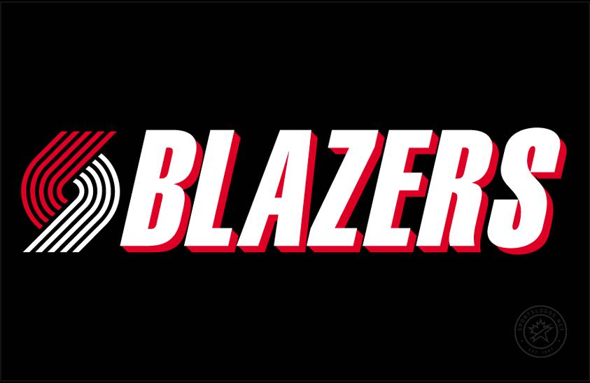 Portland Trail Blazers Logo Primary Dark Logo (1990/91-2001/02) -  SportsLogos.Net