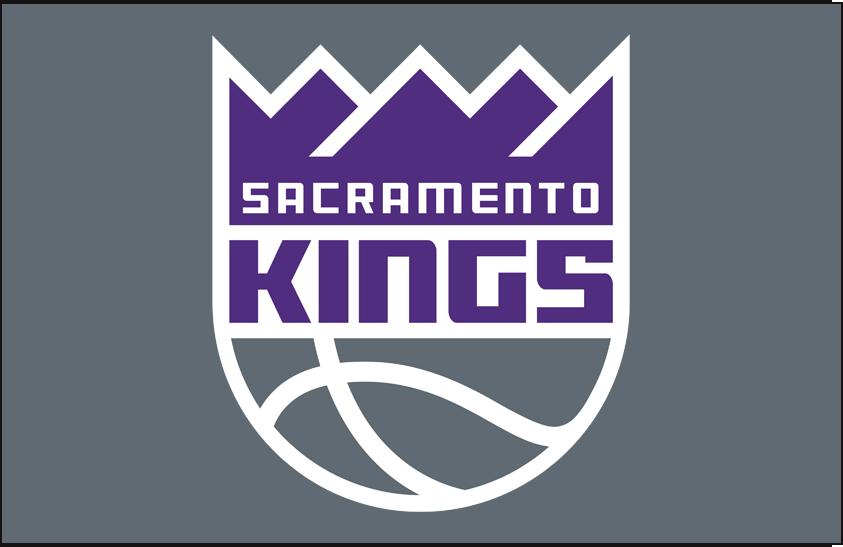 Sacramento Kings Logo Primary Dark Logo (2016/17-Pres) - Kings primary logo on silver SportsLogos.Net