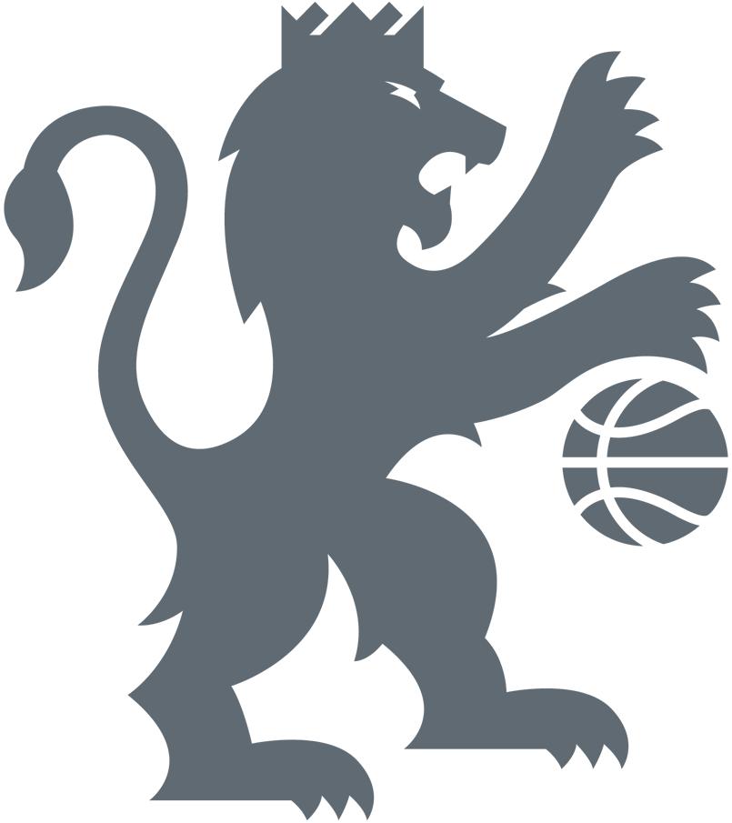Sacramento Kings Logo Alternate Logo (2016/17-Pres) - Silver lion wearing crown dribbling basketball SportsLogos.Net
