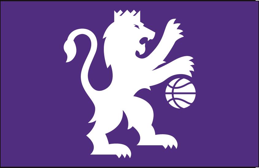 Sacramento Kings Logo Alt on Dark Logo (2016/17-Pres) - White lion on purple SportsLogos.Net