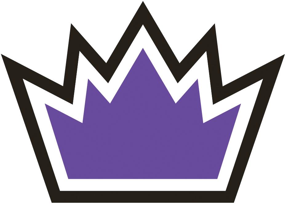 Sacramento Kings Logo Alternate Logo (2014/15-2015/16) - Purple crown with white and black trim SportsLogos.Net