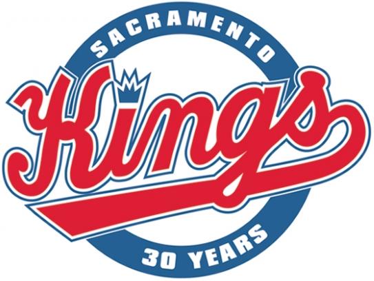 Sacramento Kings Logo Anniversary Logo (2014/15) - 30th Anniversary logo SportsLogos.Net