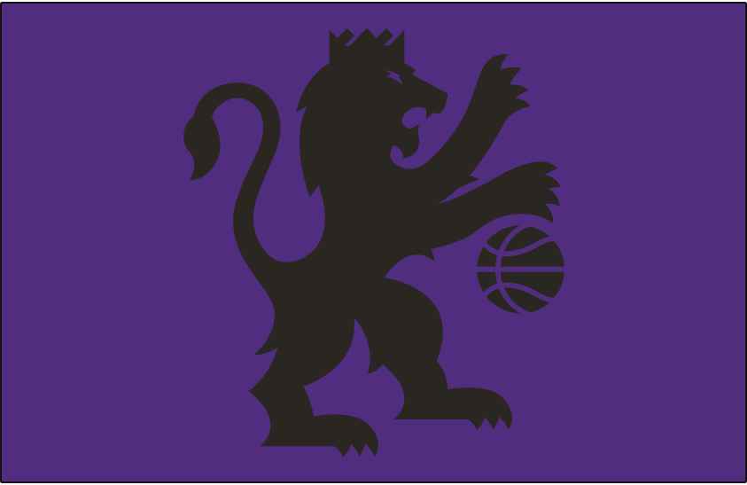 Sacramento Kings Logo Alt on Dark Logo (2016/17-Pres) - Black lion on purple SportsLogos.Net