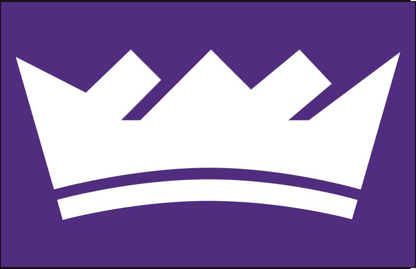 Sacramento Kings Logo Alt on Dark Logo (2016/17-Pres) - White crown on purple SportsLogos.Net