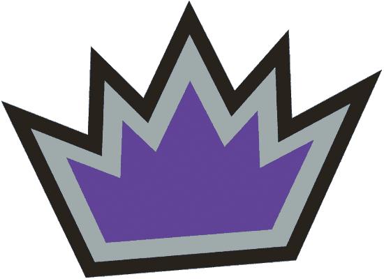 Sacramento Kings Logo Alternate Logo (2002/03) - Purple crown with silver and black outlines SportsLogos.Net