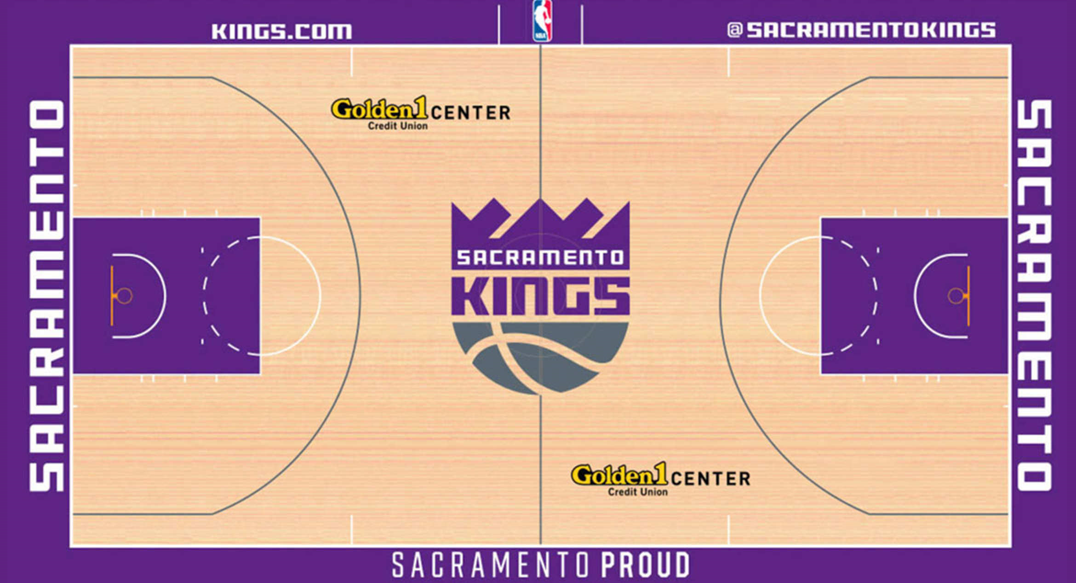Sacramento Kings Playing Surface Playing Surface (2016/17-Pres) -  SportsLogos.Net