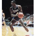 Kansas City Kings (1983) LaSalle Thompson wearing the KC Kings road uniform during the 1982-83 season