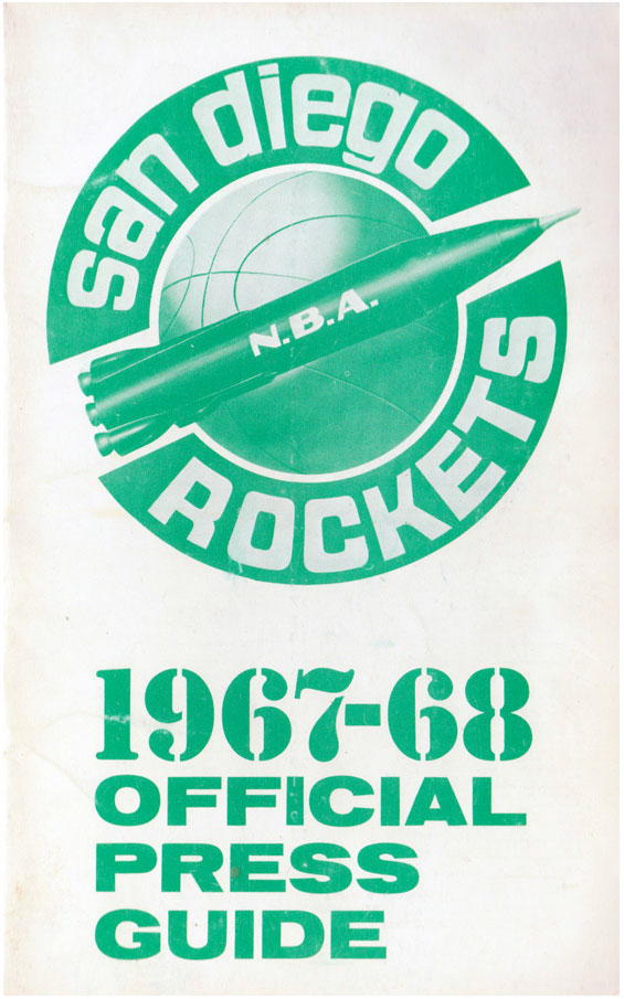 San Diego Rockets Media Guide Media Guide (1967/68) - San Diego Rockets Inaugural Season Press Guide SportsLogos.Net