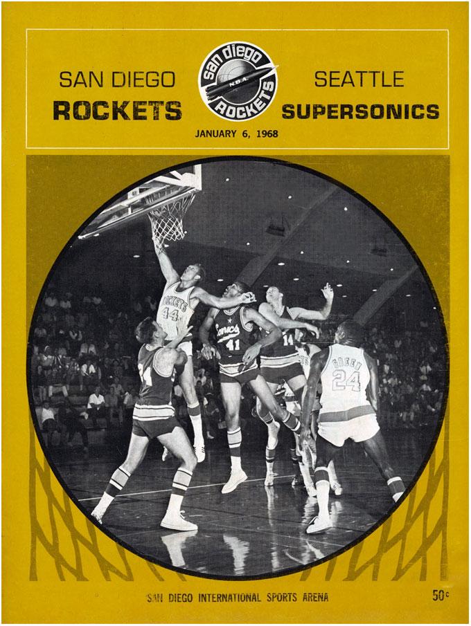 San Diego Rockets Program Program (1967/68) - San Diego Rockets Inaugural Season Program SportsLogos.Net