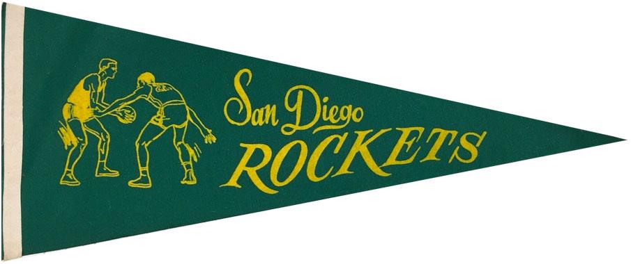 San Diego Rockets Pennant Pennant (1967/68-1970/71) - San Diego Rockets Pennant SportsLogos.Net
