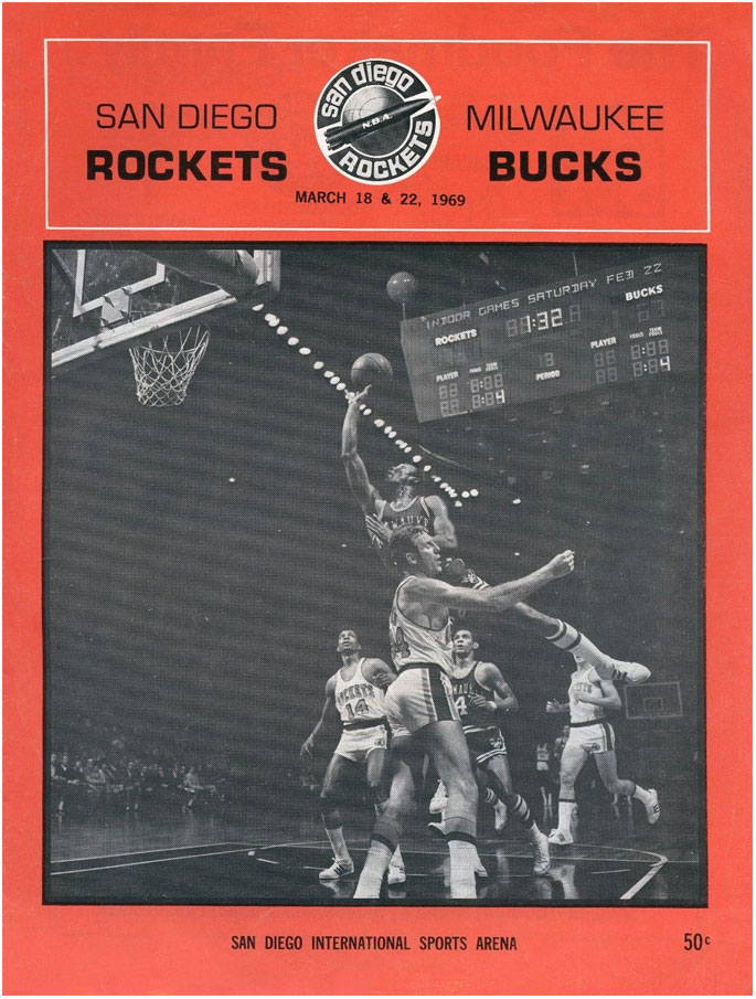 San Diego Rockets Program Program (1968/69) - San Diego Rockets Program SportsLogos.Net