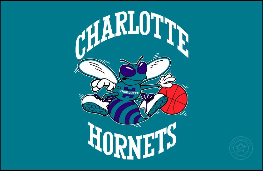 Charlotte Hornets Logo Primary Dark Logo (1988/89-2001/02) -  SportsLogos.Net